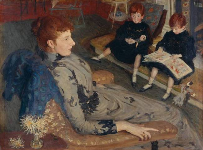Degas- Could be any other in ballet, but instead depicts a mother of upper middle class, waiting in a drawing room-again, could be Any Mother in Ballet Studio waiting....