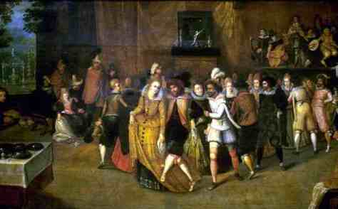 Catherine and Henri II dancing