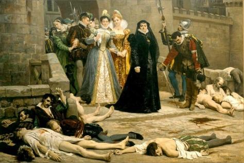 Catherine viewing the St Bartholomews Day Massacre