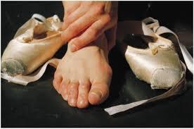 healthy dancer feet