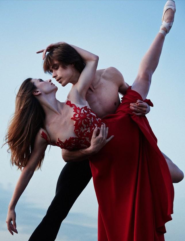 Anna Tikhomirova and Artem Ovcharenko for Vogue Russia (October 2014) © MARIAN SELL (2)
