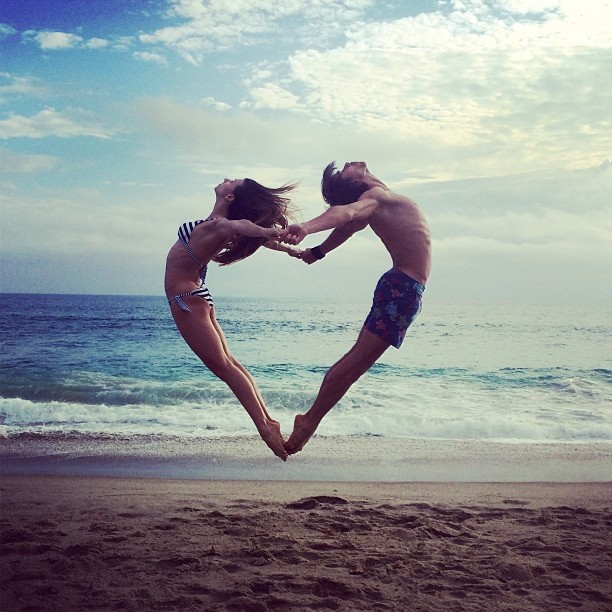 Anna Tikhomirova and Artem Ovcharenko. Laguna Beach, CA, 2014. Photographer: Maria Tikhomirova