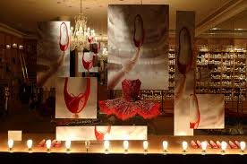 Repetto Paris Store Window Holiday theme. La!