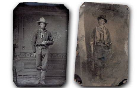 The Upham tintype of Henry McCarty, aka William Bonney aka Billy the Kid, the sole authenticated picture of the famous outlaw, 1879-80