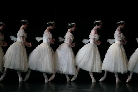 The Corp de Ballet, Paris Opera Ballet. Ballet: Giselle, Act 2; Photographer: Sebastien Mathe