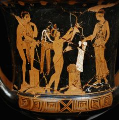 Meeting of Jason and Medea, amor between them prelude of Euripede's tragedy