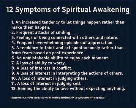 12 Symptoms of Spritual Awakening