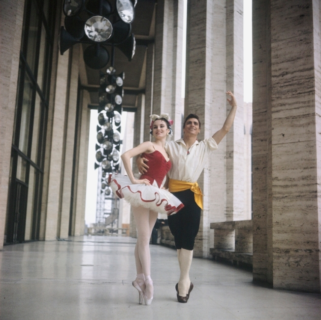 "Billy Rose Theatre Division, The New York Public Library. ""New York City Ballet - Publicity photo Patricia McBride and Edward Villella on the balcony of the unfinished New York State Theater at Lincoln Center, in ""Tarantella"" costume, choreography by George Balanchine (New York)"" The New York Public Library Digital Collections. 1964. http://digitalcollections.nypl.org/items/5baf78c0-2565-0132-8aa0-58d385a7b928"